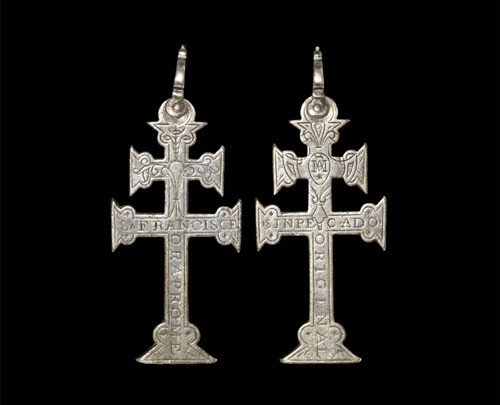 Post Medieval Spanish Silver St. Francis Cross