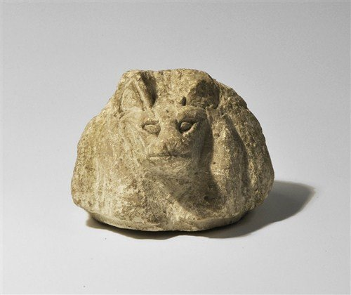 Egyptian Style Head of Anubis Canopic Jar Lid