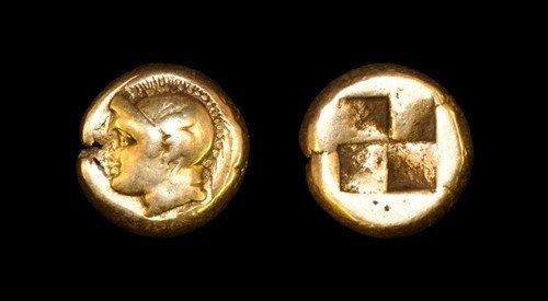 1: Greek Phokaia - Ionia - Electrum Hekte (1/6 Stater)