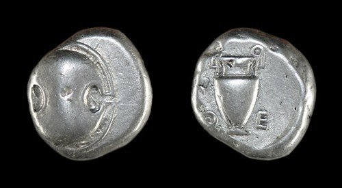 13: Greek Autonomous Coinage of Thebes - 'Shield and Am