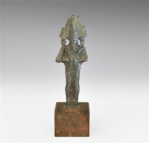 Egyptian Bronze Osiris Statuette