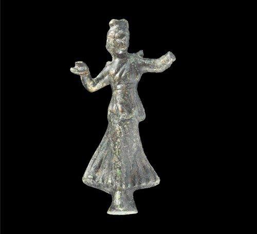 Romano-Egyptian Bronze Dancer Statuette
