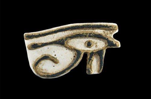 Egyptian White Eye of Horus Amulet