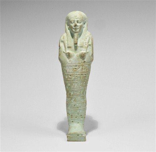 Egyptian Faience Hieroglyphic Shabti