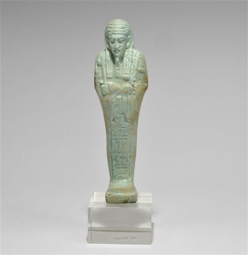 Egyptian Large Faience Shabti Figure