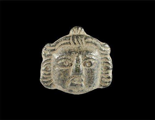 Roman Bronze Head Mount