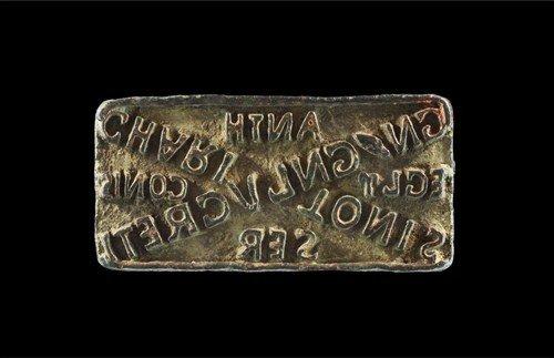 Roman Bronze Epigraphic Stamp