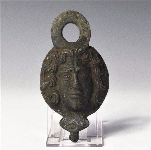 Roman Bronze Figural Bowl Mount