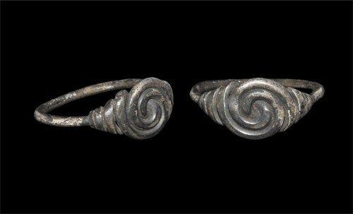Saxon Silver Spiral Ring