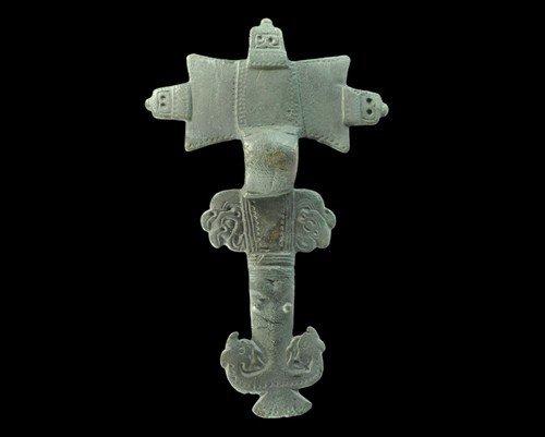 Anglo-Saxon Zoomorphic 'Bird-Head Lappets' Cruciform Br