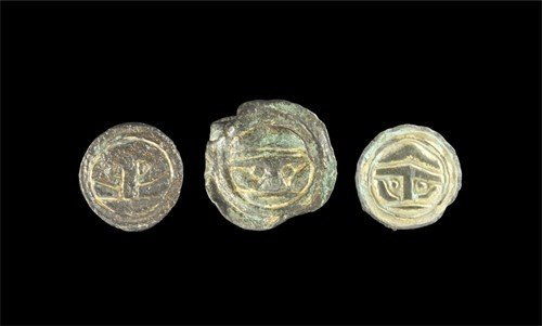 Anglo-Saxon Gilt-Bronze Button Brooch Group