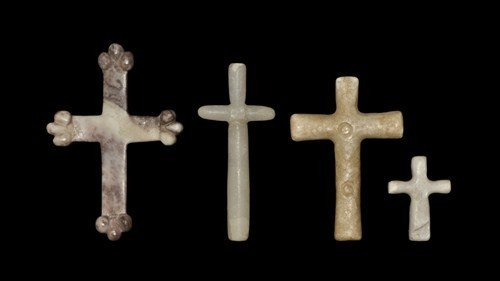 Post Medieval Marble Cross Group
