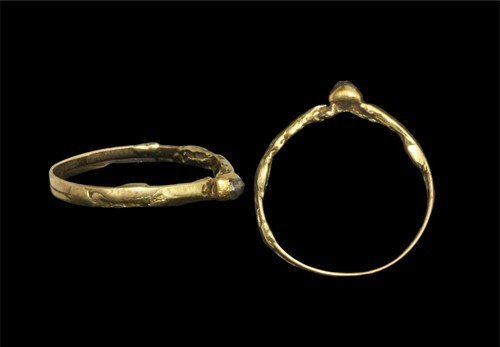 Medieval Gold with Diamond Ring