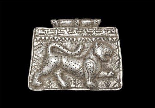 Medieval Silver Lion Pendant