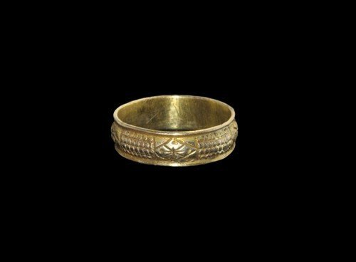Medieval Silver-Gilt Decorated Finger Ring