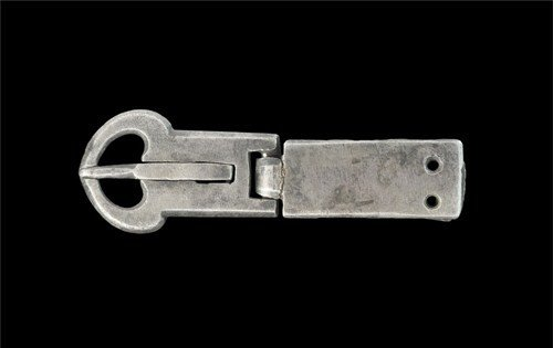Medieval Silver Articulated Buckle