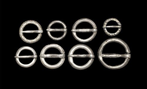 Medieval Silver Ring Brooch Collection