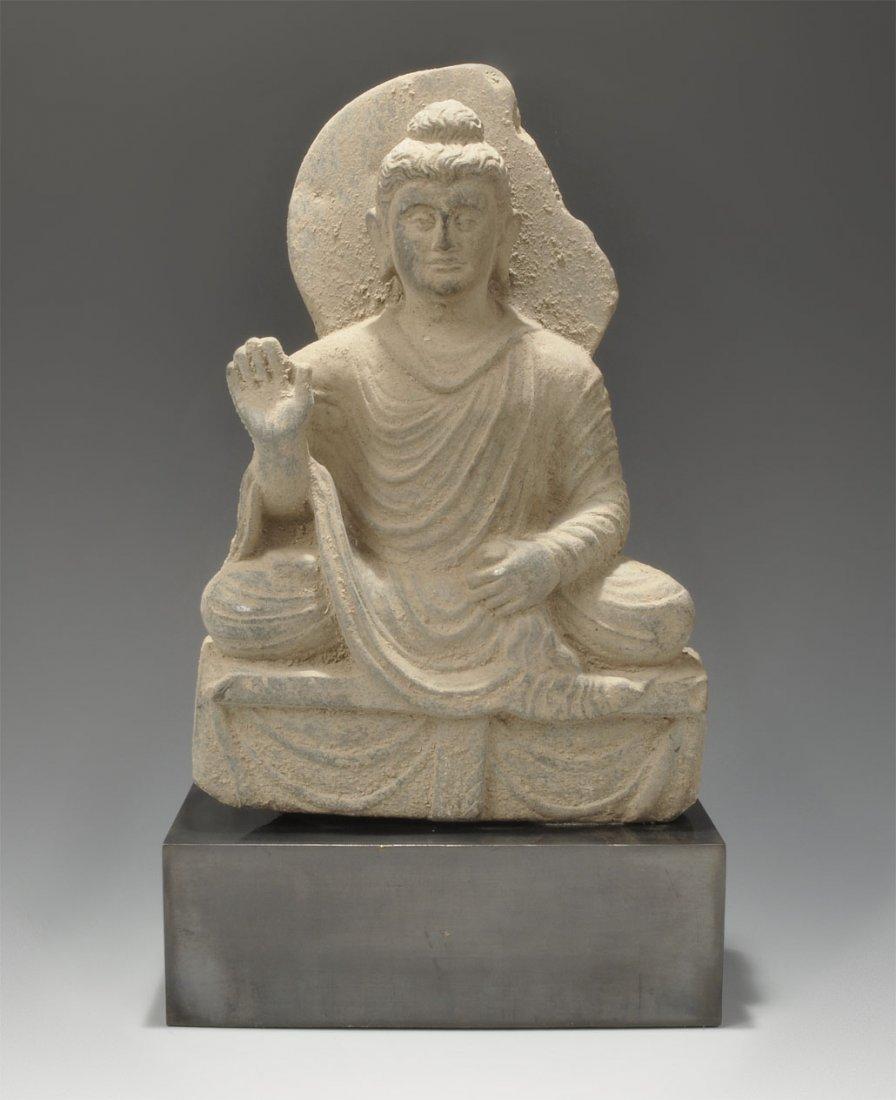 Near Eastern Ghandaran Stone Buddha Statuette