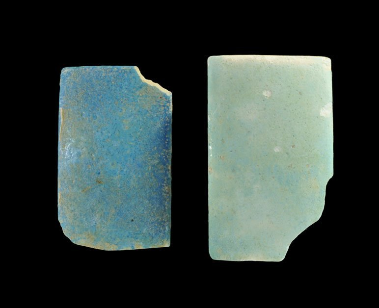 Egyptian Faience Wall Plaque Group