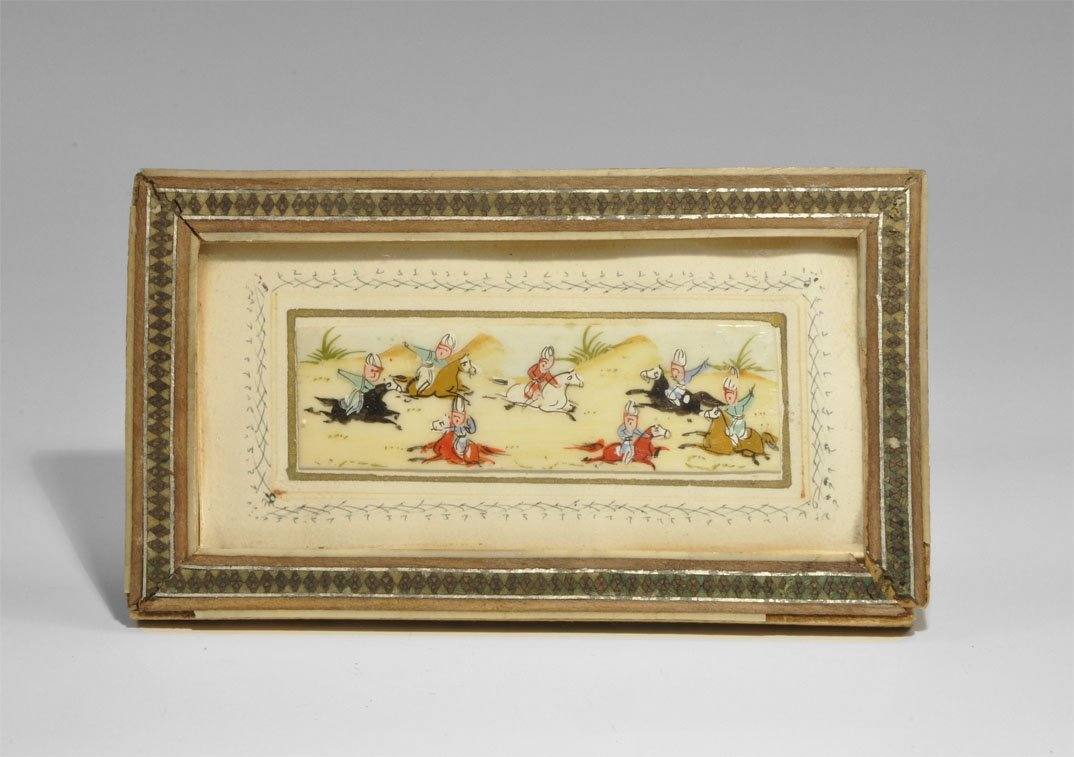 Chinese Ivory Painted Plaque