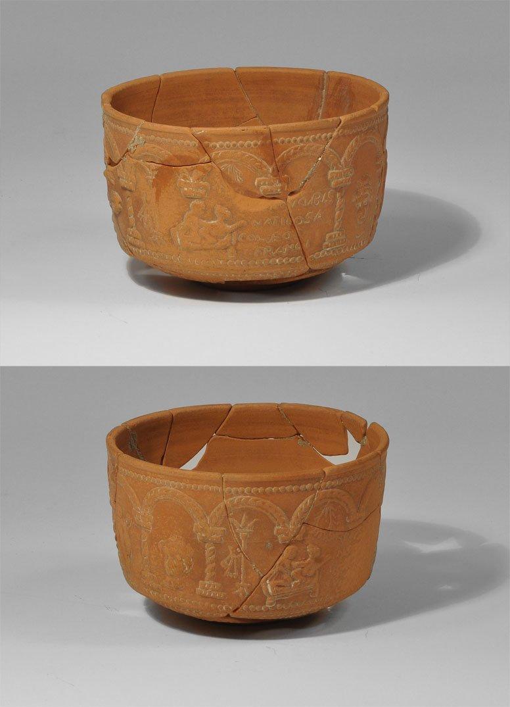 Roman Samian Ware Epigraphic Pot