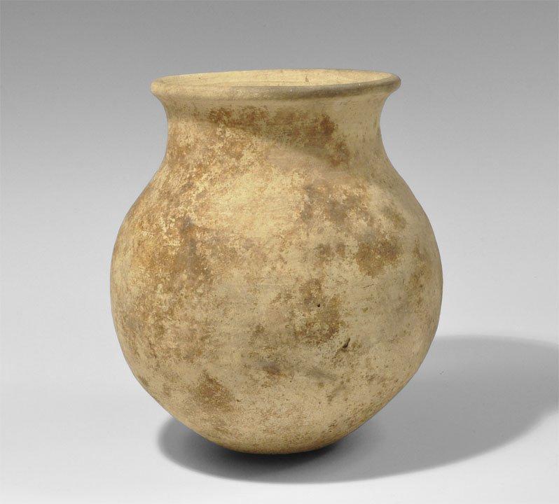 Bronze Age Style Ceramic Globular Pot