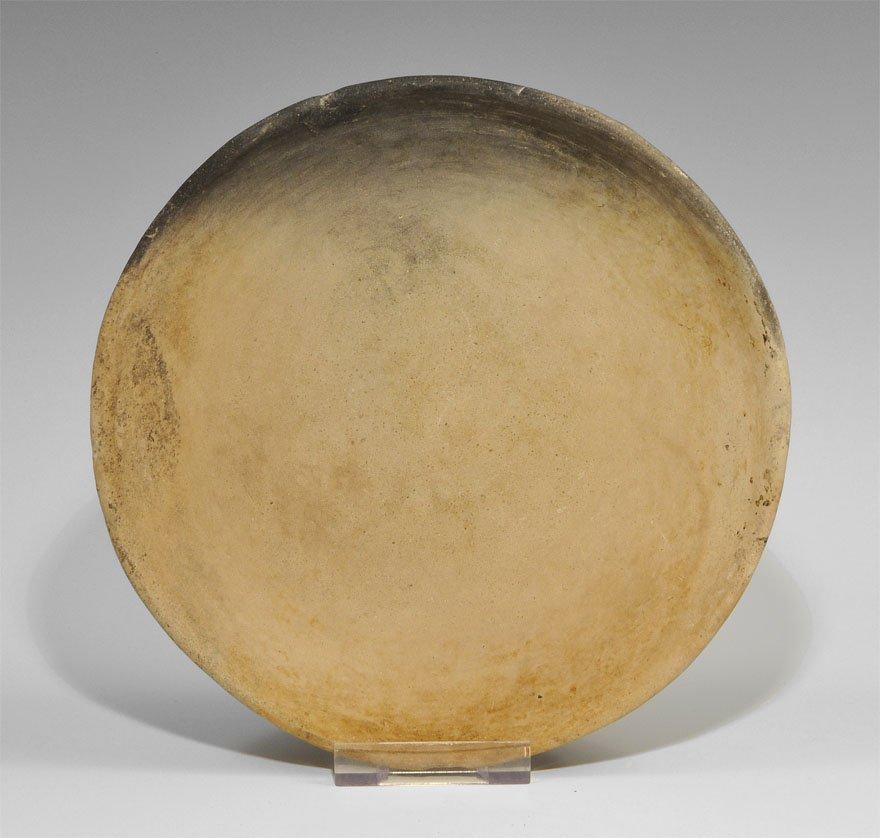 Bronze Age Style Ceramic Creamware Bowl