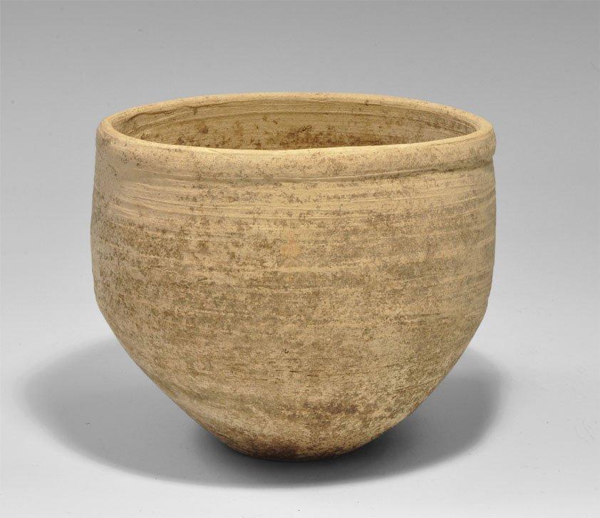 Bronze Age Style Ceramic Buffware Pot