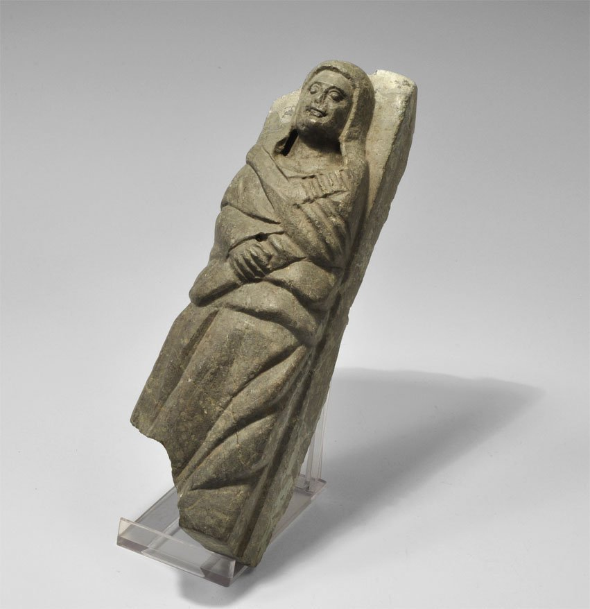 Medieval Stone Figural Carving