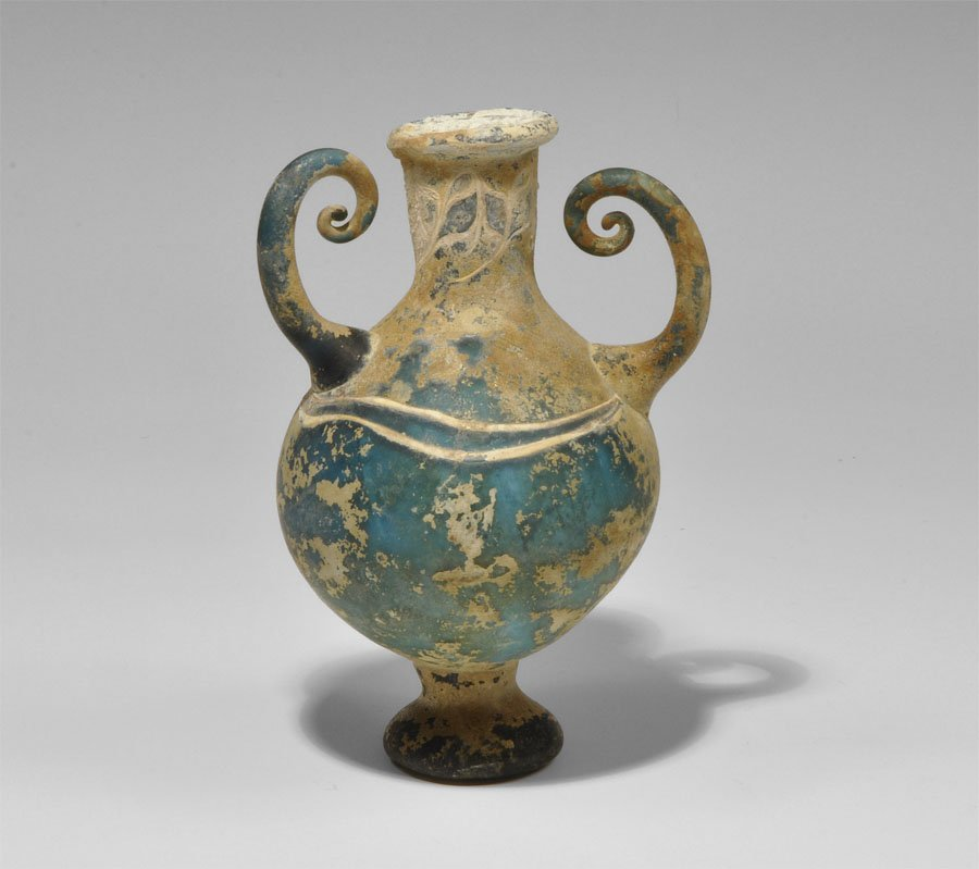 Islamic Green Glass Vase