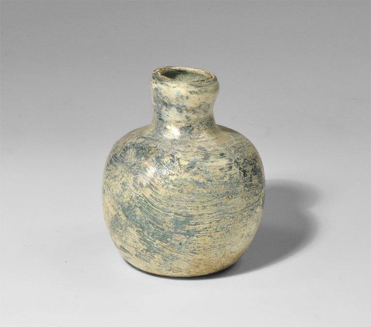Roman Glass Globular Bottle