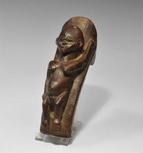 Tanzanian Wooden Nyamwasi Tribe Female Figurine