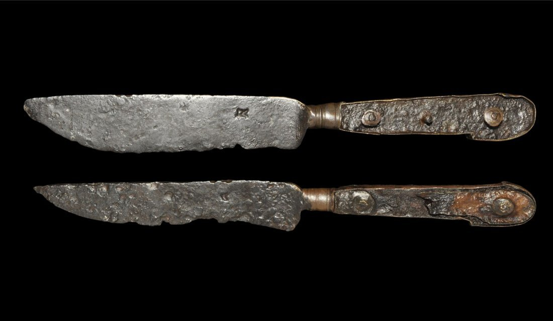 Post Medieval Bronze Table Knife Group