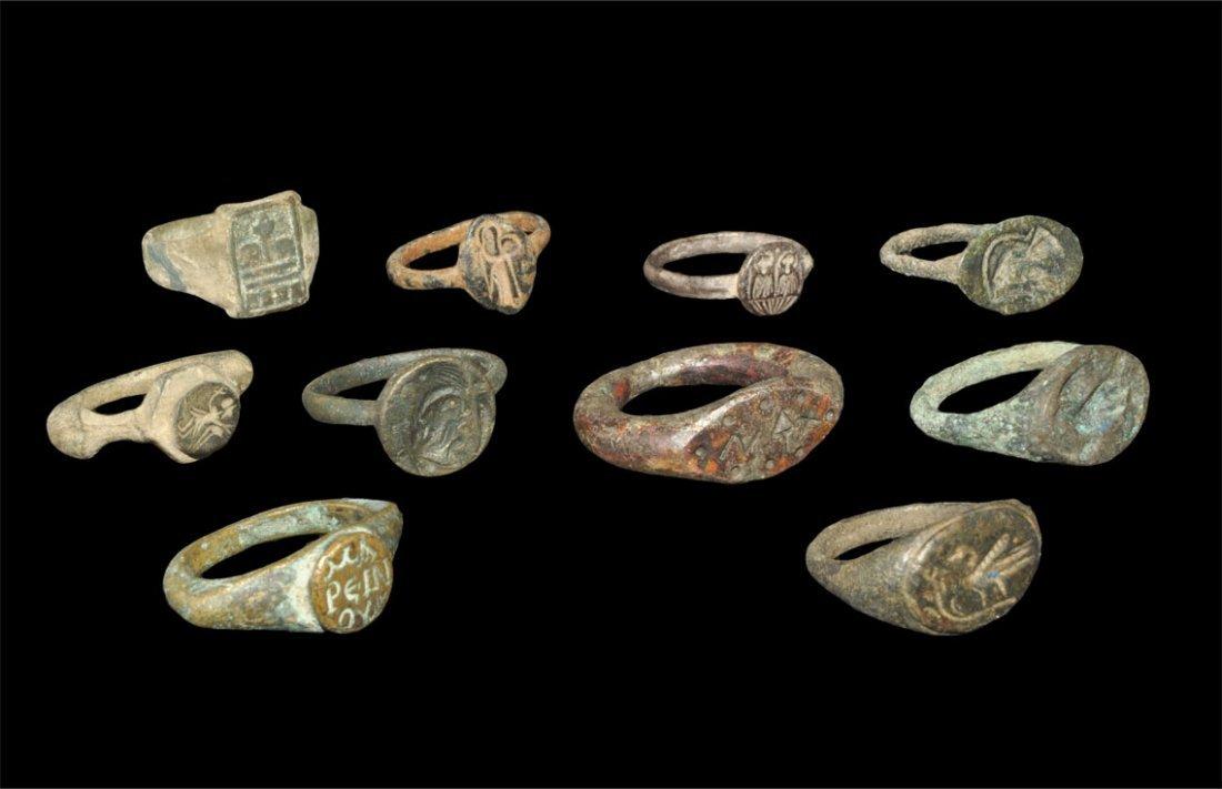 Roman Bronze Ring Group