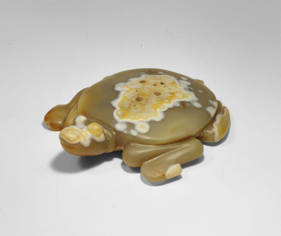 Chinese Agate Tortoise Figurine