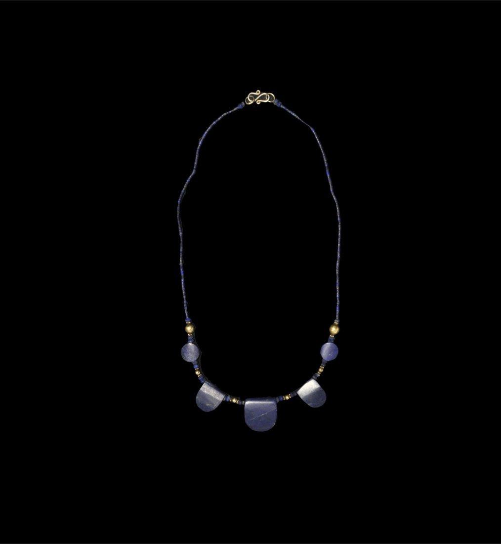 Egyptian Style Lapis Lazuli Necklace