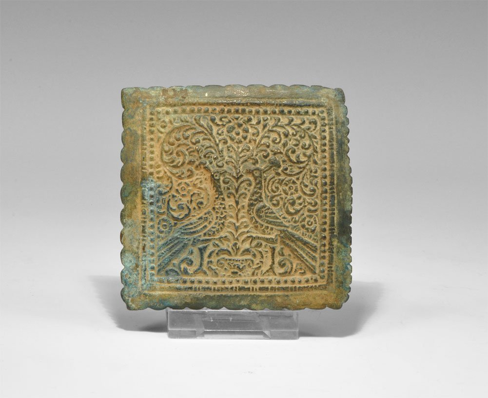 Post Medieval Bronze Figural Stuart Period Plaque