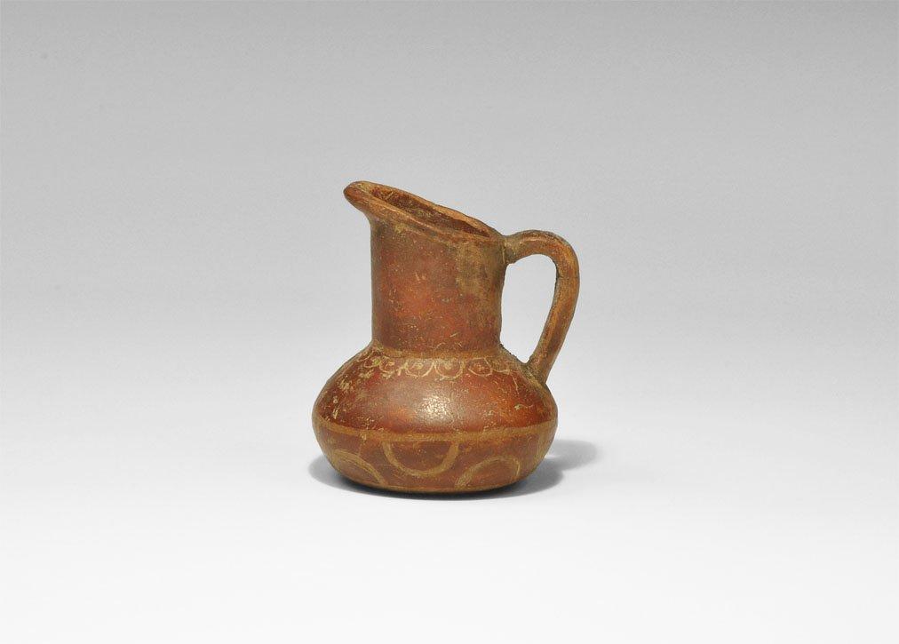Thracian Ceramic Red-Washed Buffware Juglet