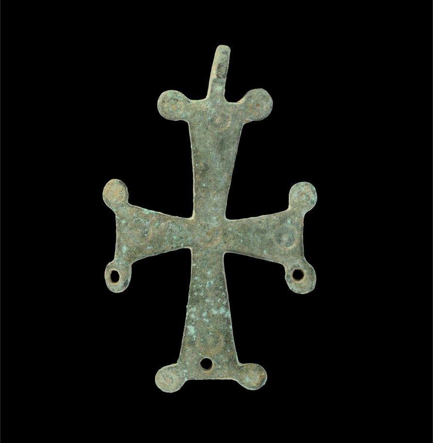 Byzantine Bronze Cross Pendant