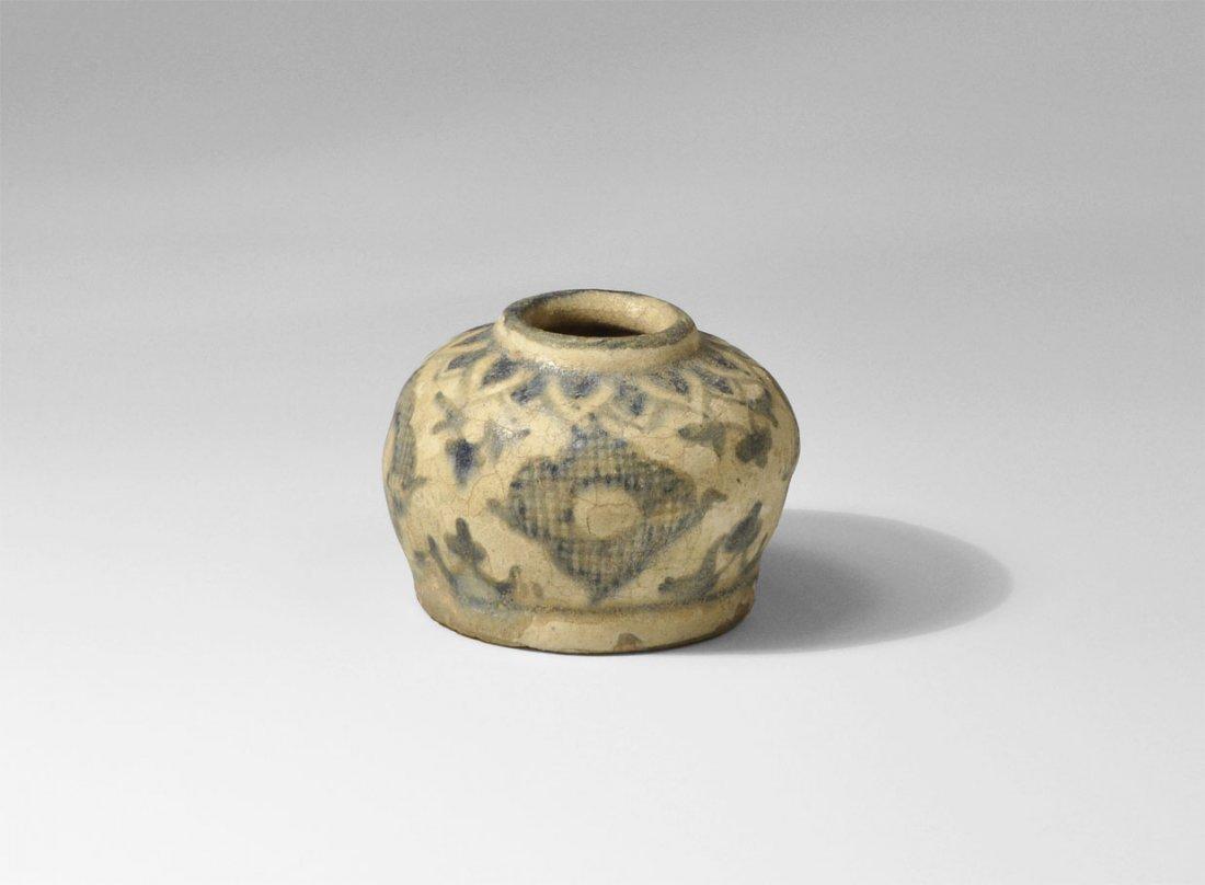 Islamic Ceramic Glazed Brush Pot