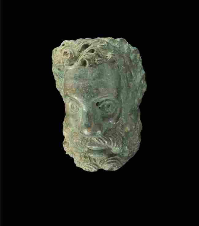 Roman Bronze Figurine Head