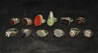 Islamic Silver Finger Ring Group