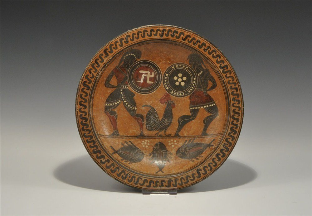 Greek Style Attic Black Figure Ware Dish