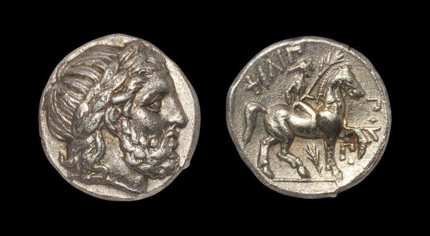 Greek Macedonia - Philip II - Zeus Tetradrachm