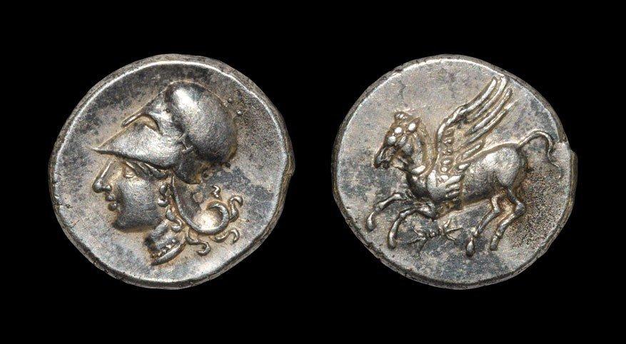 Greek Bruttium - Lokroi - Athena and Pegasus Stater