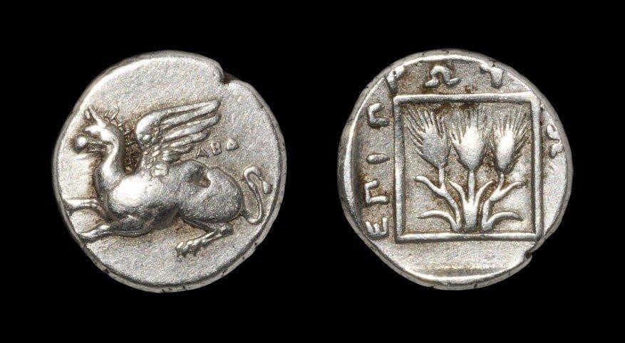 Greek Abdera - Griffin Tetrobol