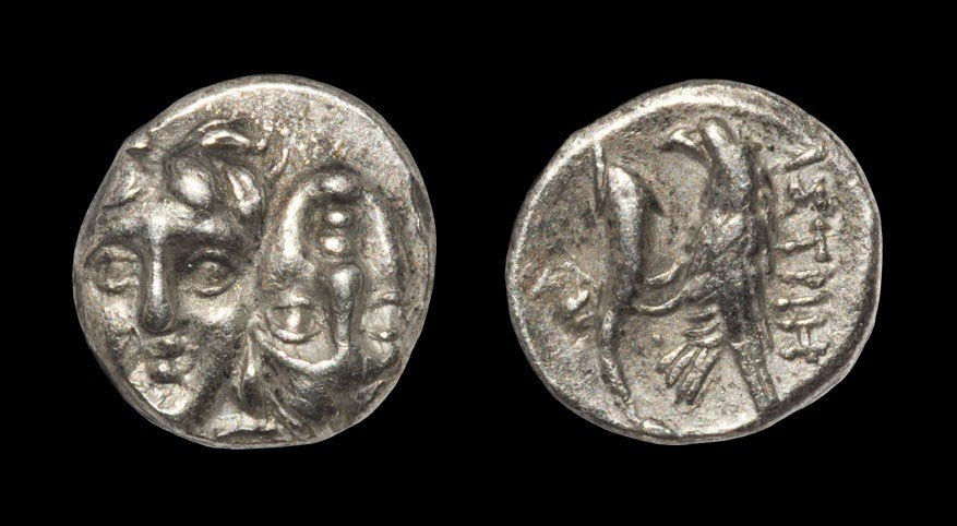 Greek Istros - Double Face and Fish Eagle - Stater