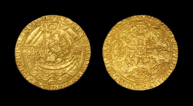 English Medieval Henry V - London - Gold Class E Noble