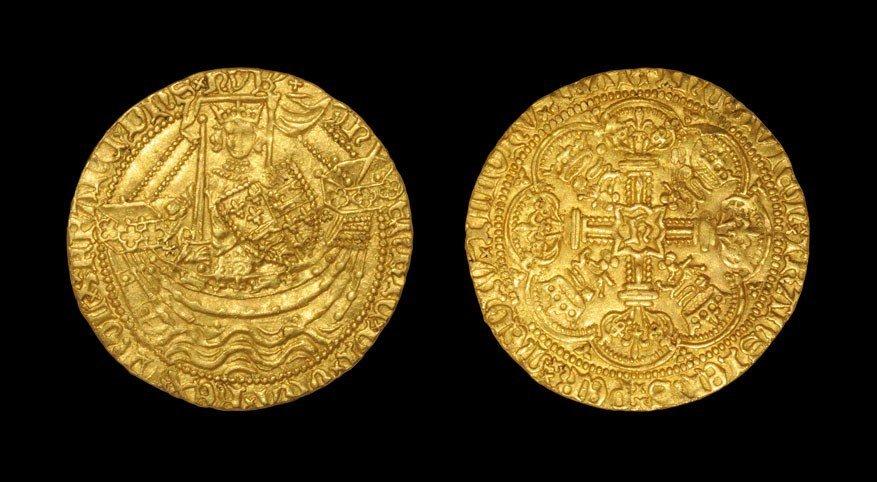 English Medieval Henry V - London - Gold Class E Noble