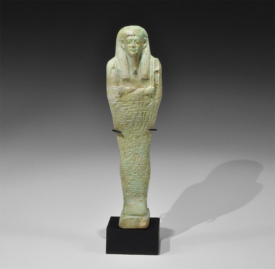 Egyptian Faience Shabti of Hor-Khonsu